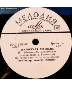 Вокально-инструментальный квинтет Орэра-Тбилисская Серенада.Тополя.