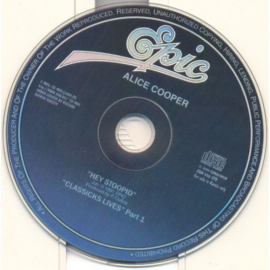 Alice Cooper-Hey stoopid + Classicks loves Part. One (CD)